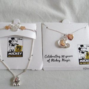 Disney 90 Years Mickey Bracelet + Necklace NWT